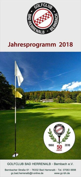 Golfclub Bad Herrenalb - Jahresprogramm 2018