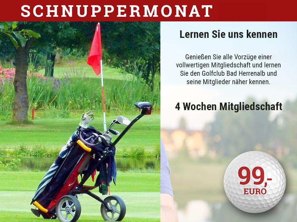 Schnuppermonat im Golfclub Bad Herrenalb